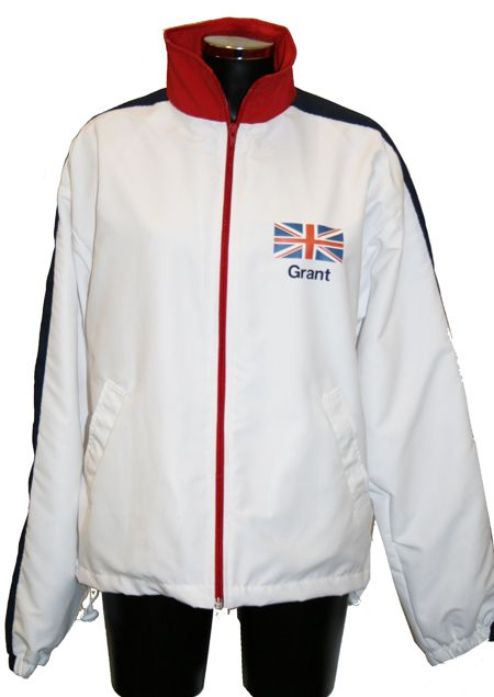 Custom make tracksuits in the white, red and blue of Team GB for a special edition of Come Dine with Me on C4 featuring former Olympic stars