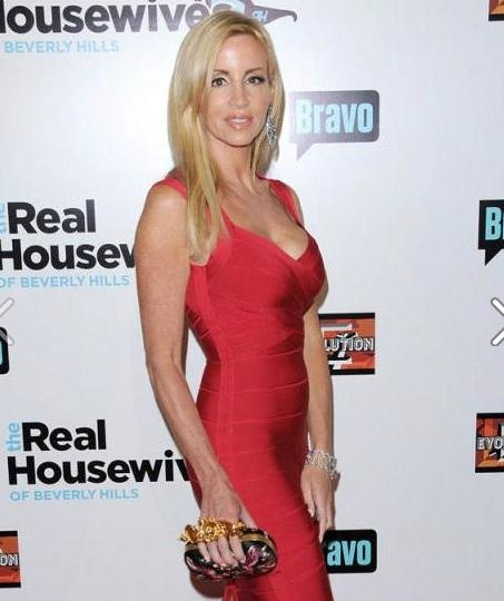 The stunning Camille Grammer from the Real Houswives of Beverly Hills, at the show's season three premiere on Sunday night, steals the show in a red dress and yes, lovely lashed up by Lash Republic.
