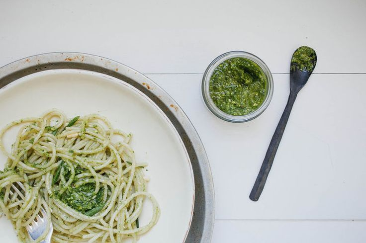 Vegan Spinach and Chive Pesto | Dolly and Oatmeal for Food52