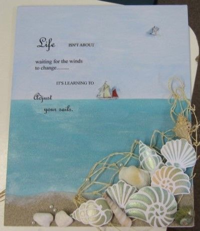 Canvas panel. Starlights, rice papers, Shells stencil - available at imaginationcrafts.co.uk