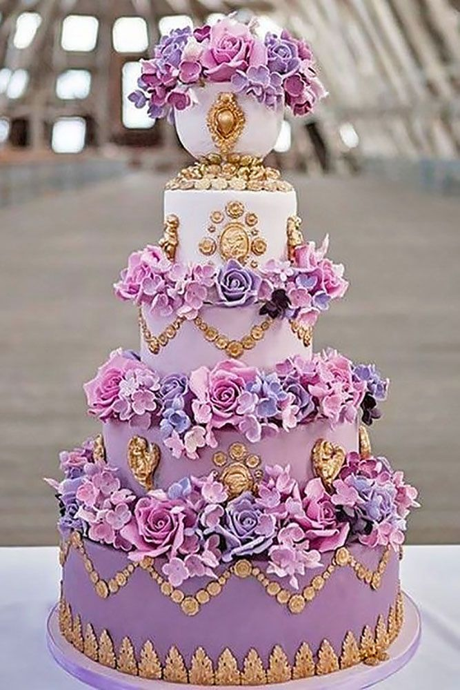 elaborate fondant flower wedding cakes 1