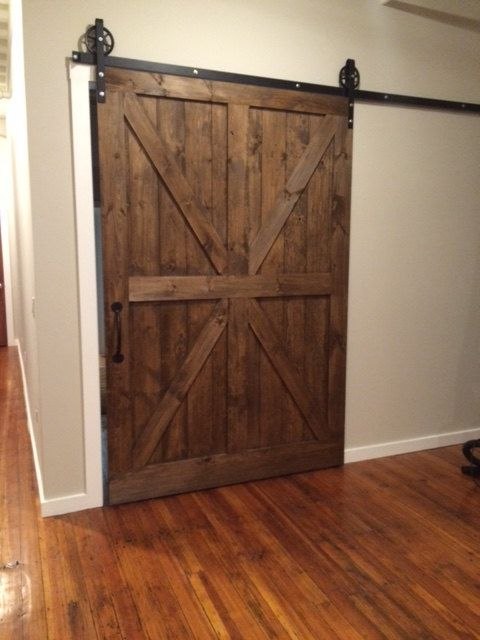 Custom made rustic barn doors designs on and doors for Barn door design ideas