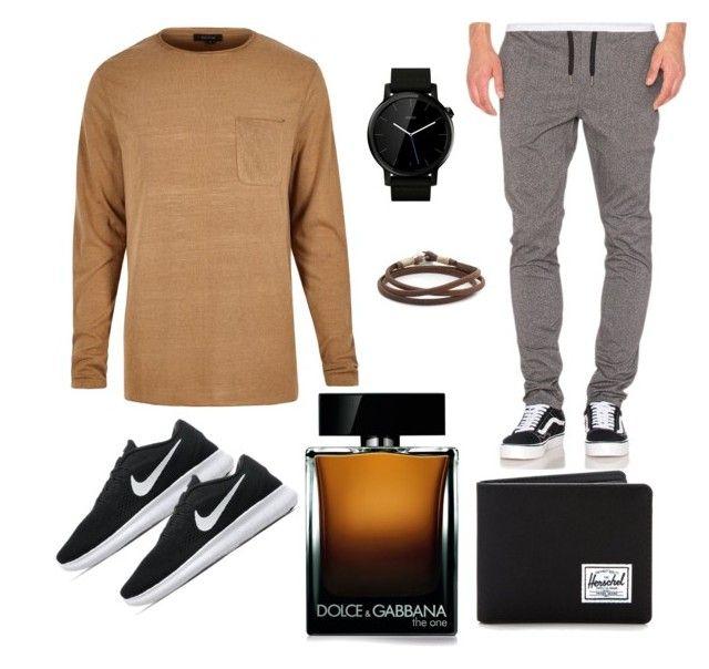 """men gigs"" by nabillarzkynt on Polyvore featuring River Island, Barney Cools, NIKE, Motorola, Caputo & Co., Dolce&Gabbana, Herschel Supply Co., men's fashion and menswear"