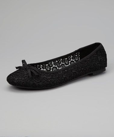 Take a look at this Black Hilary-01 Ballet Flat by Skyler on #zulily today!