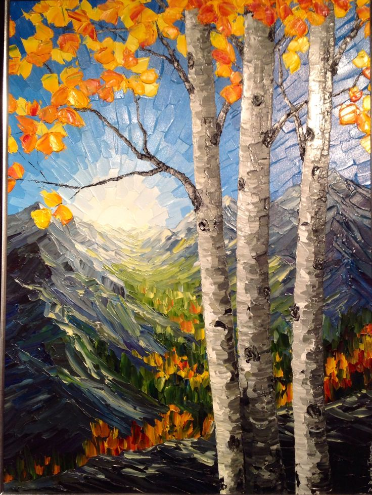 Brenda Banda Johnson brings us another palette knife painting called 'Breaking Dawn'
