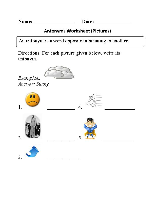 Free Online Synonyms and Antonyms Exercises