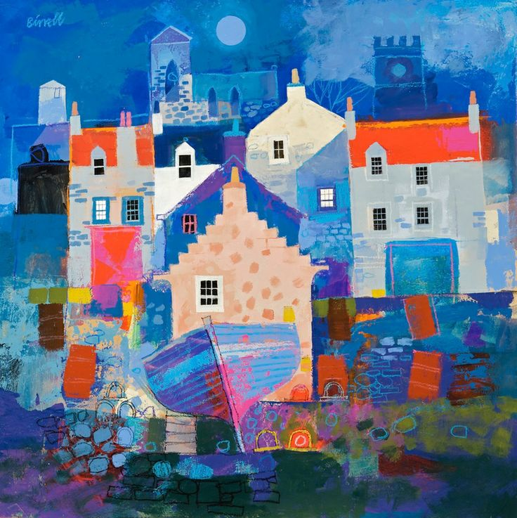George Birrell, mixed media, 50 x 50 cm, £1850. #9234 SOLD