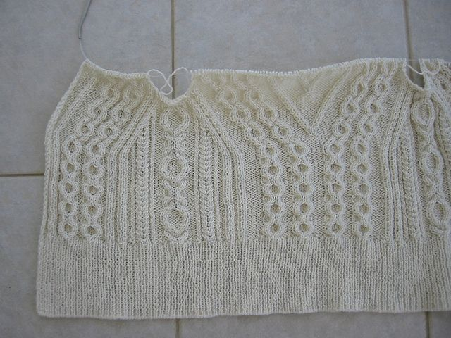 cable knit before