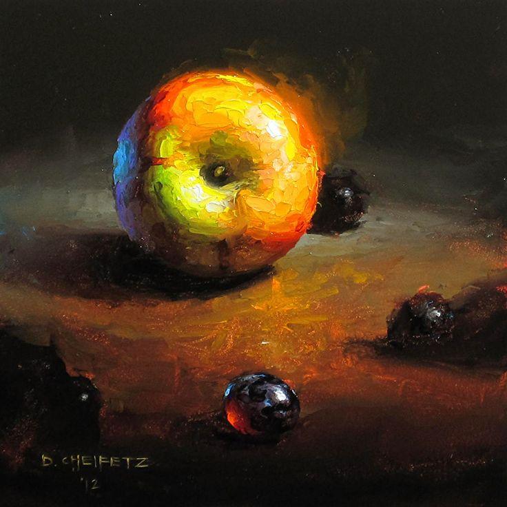 Nucleus by David Cheifetz Oil ~ 5 x 5