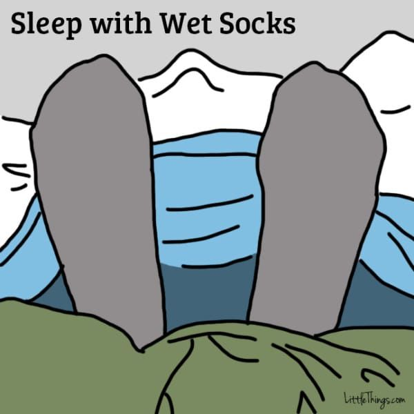 Her Doctor Tells Her To Get Her Socks Wet Before Bed. The Reason? Absolutely BRILLIANT!