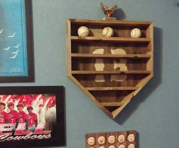 Rustic Baseball Display Rack by TheBarronBoutique on Etsy