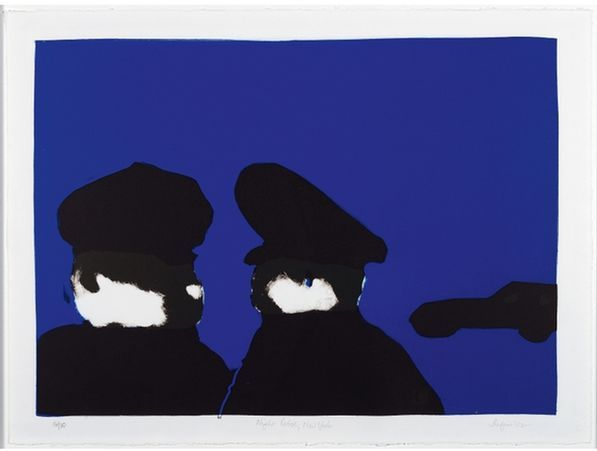 Robert Griffiths Hodgins SOUTH AFRICAN 1920-2010 Night Patrol, New York,