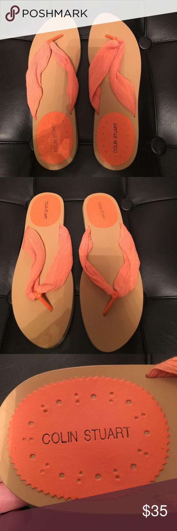 NWT Colin Stuart Beautiful very luxurious looking. NWT, Colin Stuart sandals. Beautiful orange fabric, very luxurious looking. Colin Stuart Shoes Sandals