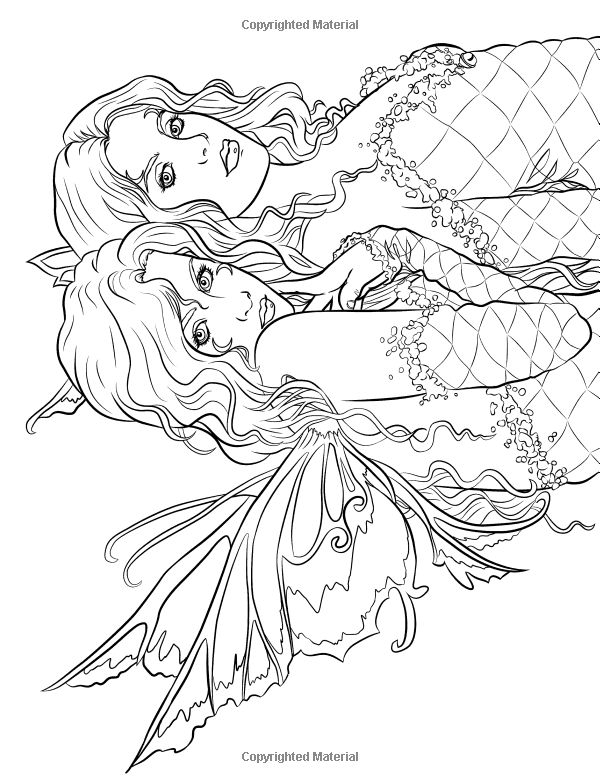 354 best !pretty women coloring images on pinterest | coloring ... - Coloring Pages Pretty Mermaids