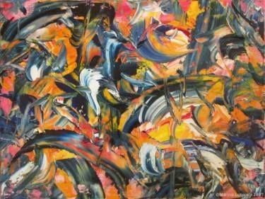 "Saatchi Art Artist Maryse Lapointe; Painting, ""Glissando 6"" #art,  #art, #oiloncanvas, #abstract, #abstractexpressionism, #riopelle, #georgesmathieu, #artquebecois, #music, #oilpainting, #artistequébécoise, #abstrait, #expressionnismeabstrait, #maryselapointe, #saisons, #seasons, #dekooning, #borduas, #automatisme,  #tableauàl'huile, #musique,"