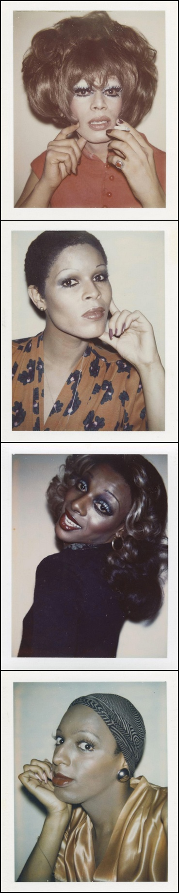 Drag Queen Polaroids by Andy Warhol, 1974