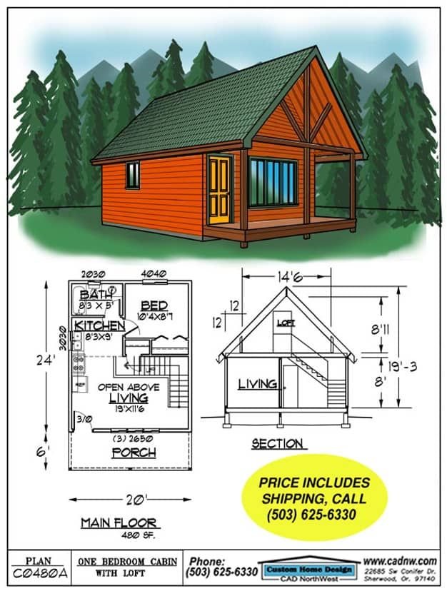 52 Free Diy Cabin And Tiny Home Blueprints Small Cabin Plans Cabin Plans With Loft House Blueprints