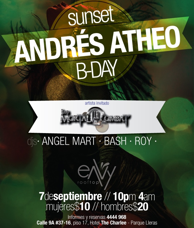 Cumple de Theito en Envy este 7 de Sep