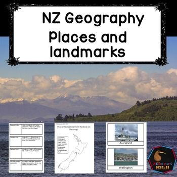 This Geography set will help your primary students or intermediate students with NZ 'landmark' geography. Suited for years 4-8 (ages 8 to 12)Places listed are:Largest city in NZ - AucklandCapital city - WellingtonLargest city in South Island - ChristchurchLargest lake - Lake TaupoDeepest lake - Lake HaurokoTallest point - Mt CookMost southern city - InvercargillLongest river - WaikatoNorthern point - Cape ReingaSouthern most town - BluffCONTENTS1.Set of match up cards.