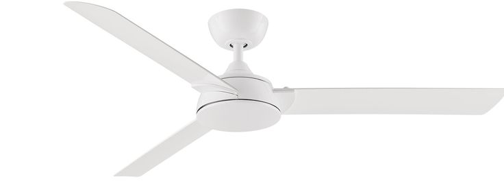 "With its minimalist lines and stylish curves, the 56"" Spinstar ceiling fan in White is an attractive addition to any space"