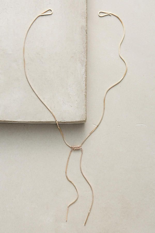 Rope Bow Necklace /