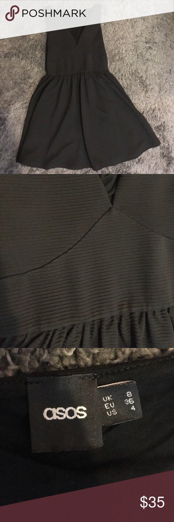 ASOS black dress! Textured stretchy black dress. So comfortable! ASOS Dresses Asymmetrical