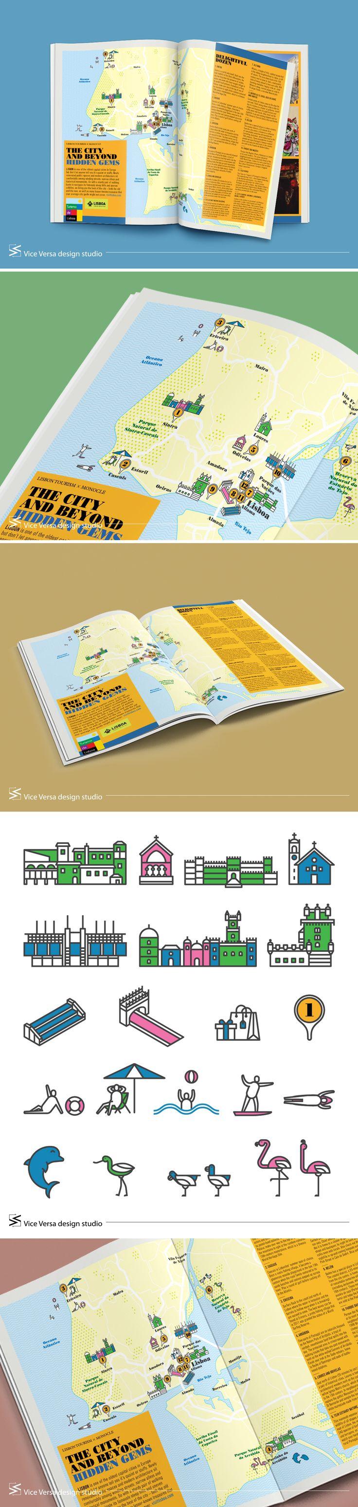 '모노클(MONOCLE)' ISSUE 101 – 'SECRETS OF THE CITY LISBON' 맵 디자인