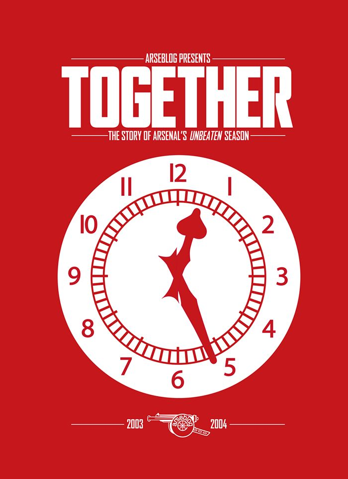 Together: the story of Arsenal's unbeaten season / book by Arseblog & Andrew Allen / cover design by Josh Combs