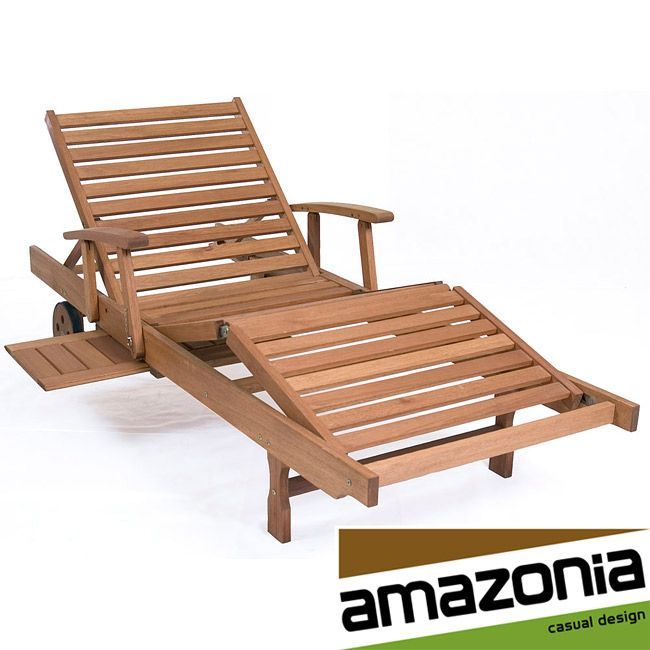 Create a casual atmosphere in your yard with this contemporary outdoor wooden lounge chair, featuring a stained finish. As long as proper care is given, this chair will handle adverse weather conditions very well without needing to move it indoors.