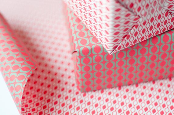 Double Sided Wrapping Paper red and green print 3 by EvaenAnne, €6.95