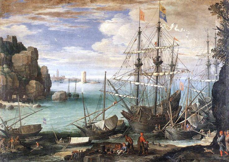 Kustlandschap met haven ~ ca. 1610 ~ Olieverf op doek ~ 107 x 151 cm. ~ Galleria Borghese, Rome