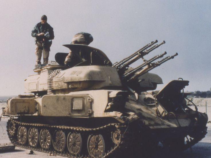 Iraqi ZSU-23-4 Shilka after captured intact, Operation Desert Storm.