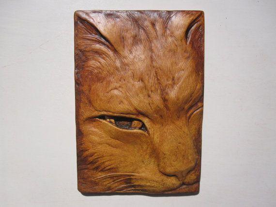 Cat Sculptured Tile ' Jefferson '