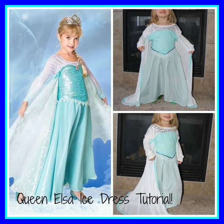 diy elsa dress diy elsa costume elsa ice dress tutorial make this for your princess with just some fabric and a long sleeved t shirt - Halloween Costumes Of Elsa