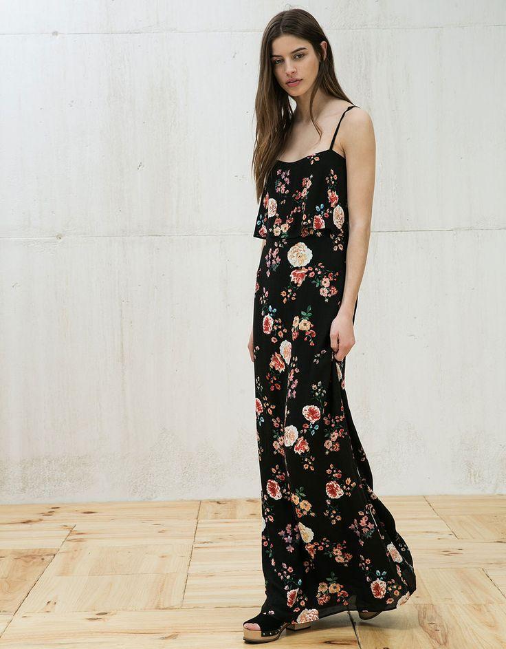 Long print dress with ruffles - http://bers.hk/PinterestFestivals