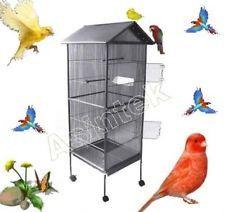 Gabbia in metallo voliera per volatili pappagalli canarini uccelli cardellini