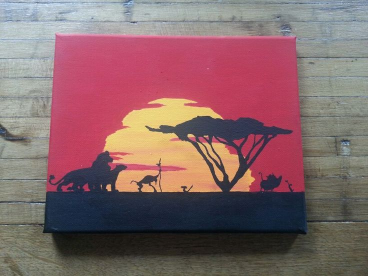 Awesome Lion King painting