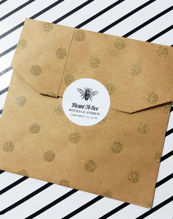 Wedding Stickers Meant to Bee Stickers Favor by DiyCraftyScraps