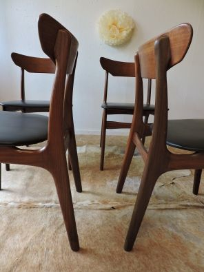 Vente Série de 4 chaises danoises 60' par Schionning & Elgaard - Achat - Prix