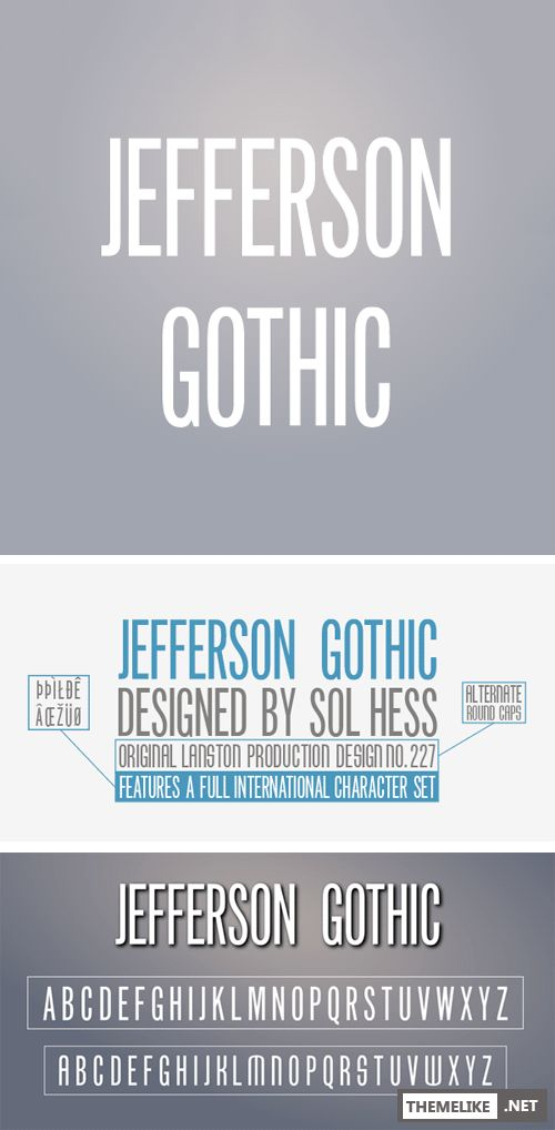 Jefferson Gothic by Lanston Type Company