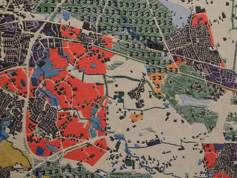 IABR 2014, Urban by Nature, Atelier Brabantstad, Architecture Workroom Brussels. Noord-Brabant map woven.
