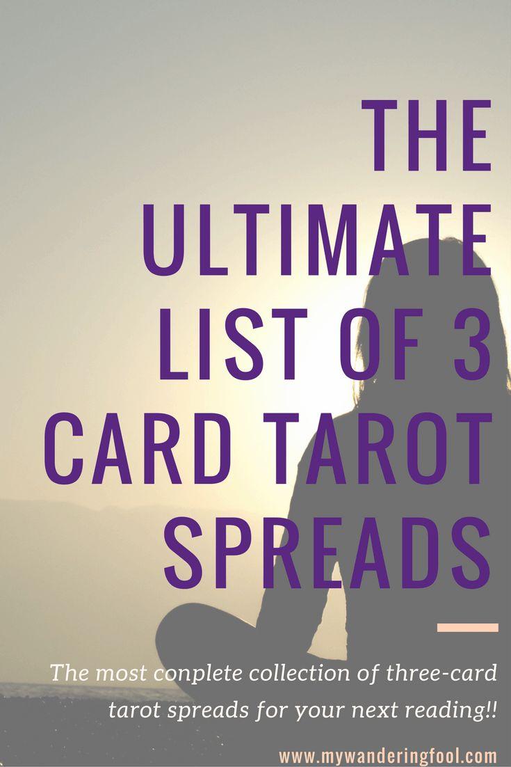 Ultimate list of three card tarot spreads