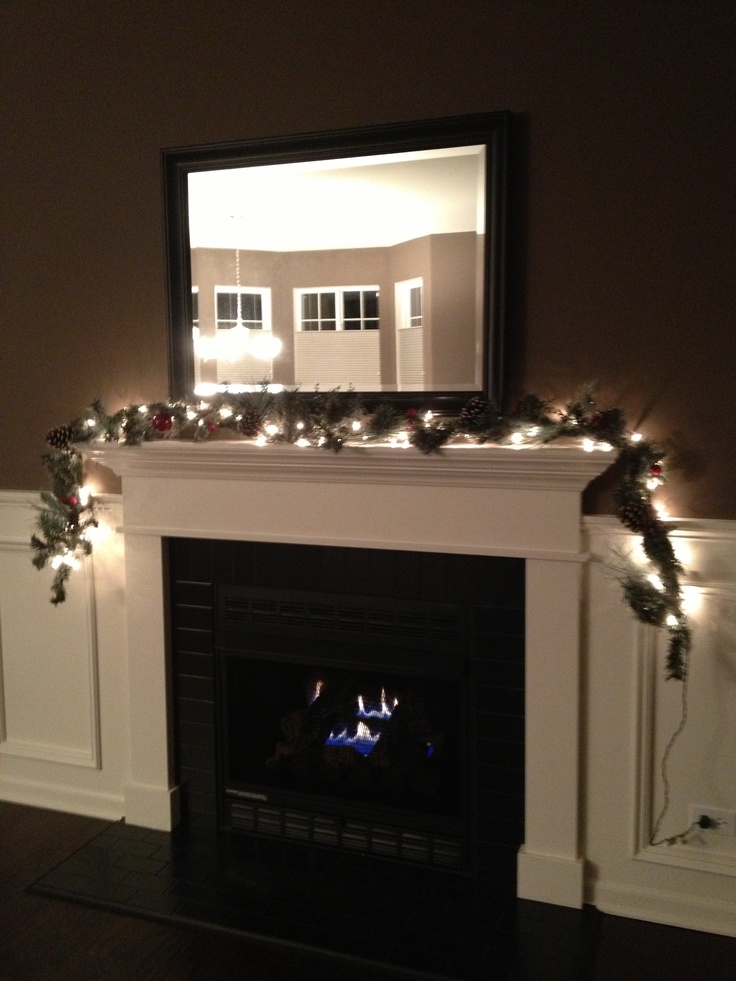 17 best images about fireplace tile on pinterest mantels mantles and black subway tiles - Black and white fireplace ...
