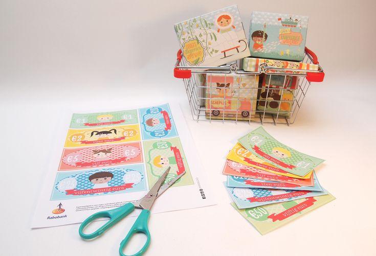 Winkeltje of restaurantje spelen? Download gratis Papiergoed geld.