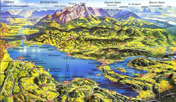 Ferienwohnungen,Ferienhäuser, Hotels,Pensionen und Zimmer am Bodensee / Schwäbischen Meer und Informationen zur Region