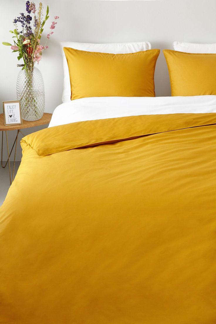 Zomerse kleuren ook in de winter #dekbedovertrek #geel #zomer #whkmpsown #slaapkamer #wehkamp