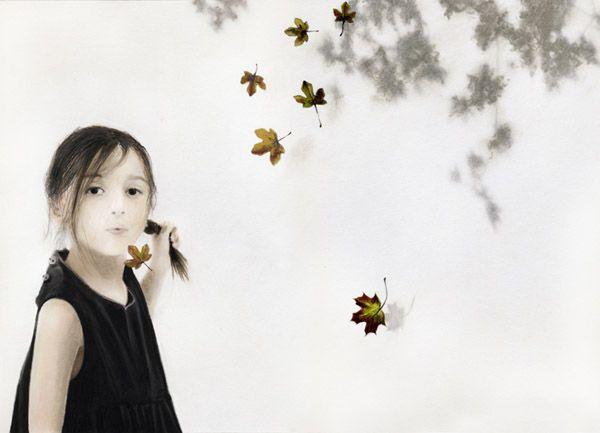 """Il tempo passa, le vacanze finiscono, la scuola inizia, tutto cambia... - di Angela Articoni. Immagine """"Soffio"""" di Sonia MariaLuce Possentini http://www.mammeonline.net/content/bambini-senso-del-tempo"""