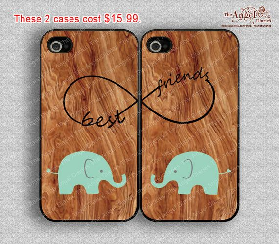 Elephant, Wood, infinity & Best Friends iPhone 4/ 4s Case, iPhone 4 Hard Plastic/Soft rubber Case, Personalized iPhone Case--water proof on Etsy, $15.99