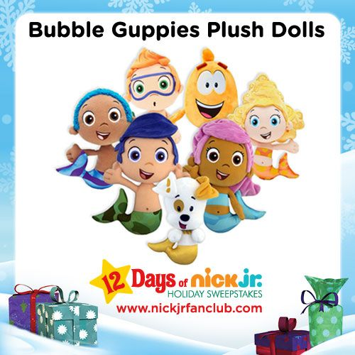 Bubble Guppies plush dolls make a fin-tastic holiday gift!