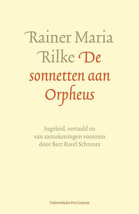 De sonnetten aan Orpheus  Literaire geannoteerde vertaling van Rilkes meesterwerk. Rainer Maria Rilke (1875-1926) geldt als een van de grootste Duitstalige dichters. Na lange omzwervingen trok hij zich terug in het Zwitserse Château de Muzot. In februari 1922 schreef hij daar in amper 15 dagen Die Sonette an Orpheus. Zoals de mythische zanger die in de onderwereld afdaalde om zijn geliefde Eurydice terug te halen overschrijdt Rilke in deze cyclus voortdurend de grens tussen leven en dood…